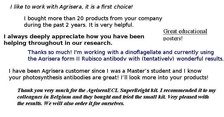 Customer feedback about Agrisera products in 2019