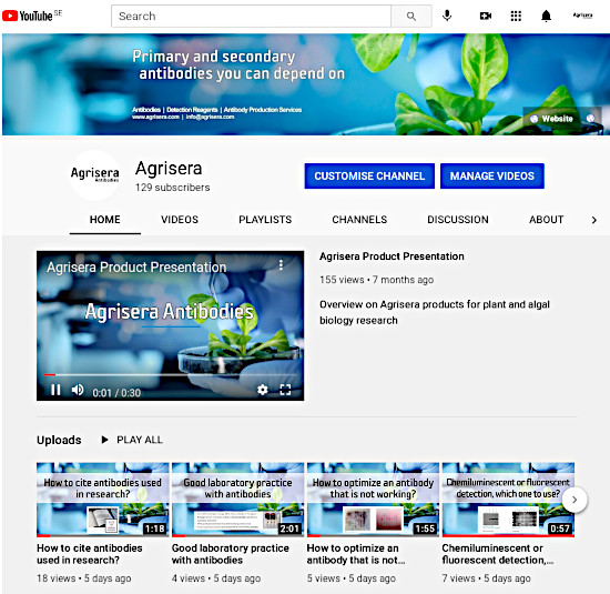 Agrisera's Educational Videos on Agrisera Youtube channel