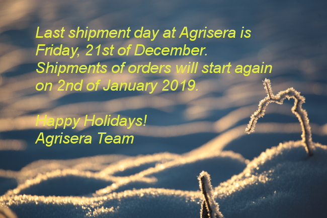 Shipment days at Agrisera, the end of the year