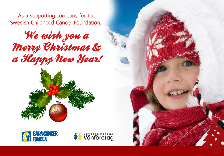 Agrisera supports the Swedish Childhood Cancer Foundation - Christmas 2013