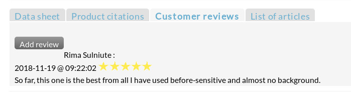 Customer review note