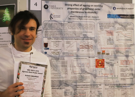 Agrisera Best Poster Prize at KBC Days 2019