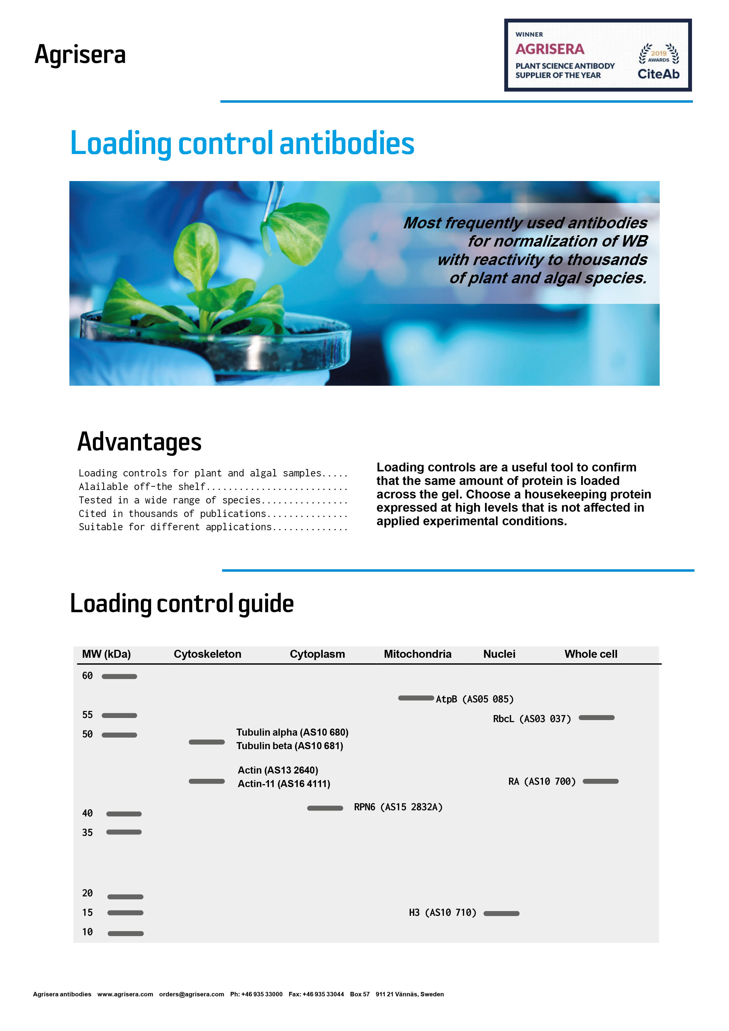 Loading control and compartment marker flyer