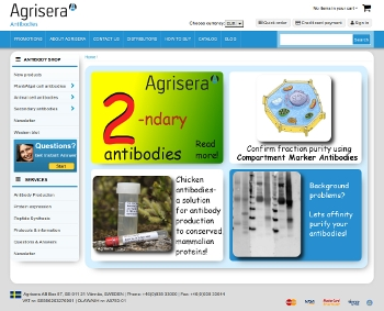 Agrisera website with a new design