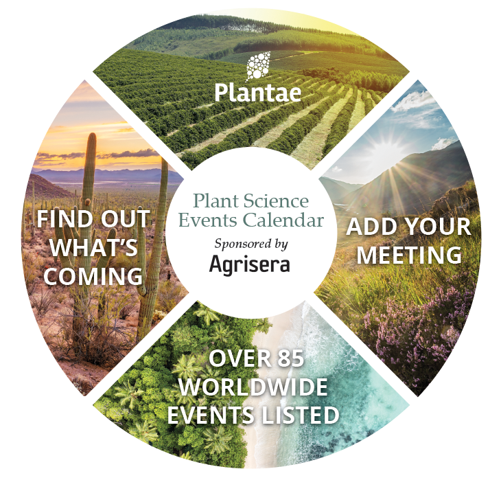 The Global Plant Science Events Calendar postcard