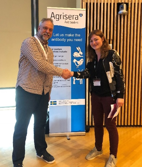 Agrisera poster prize on TOR conference, May 2018