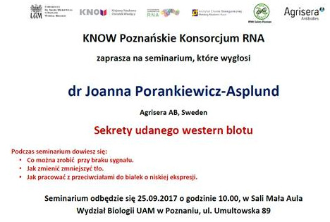 western blot seminar at Adam Mickiewicz University